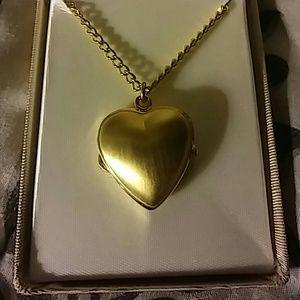 Jennifer Moore heart watch necklace